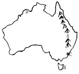 阅读材料.回答问题.大洋洲直到19世纪才被欧洲人初步探测清楚.在这以前.人们只模糊地认为南太平洋该有大片的陆地.随意在地图上注明 澳大利亚 字样.它的拉丁语原意就是