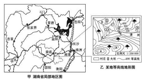 关于下面等高线地形图中地理事物的叙述.正确的是 A.a村在b村的西南方向B.c线处为山脊.d线处为山谷C.e处河流由西北向东南流D.从a村到b村规划的公路不合理 题目和参考答案