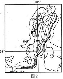 读R河流某处河谷横剖面示意图 甲 和R河流纵剖面图与河谷形态示意图 乙 .回答1 2题.1.图甲中.河谷地形形成的地质作用最可能是 A.冰川侵蚀作用 B.风力侵蚀作用C