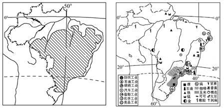 中国人口分布图_读巴西人口分布图
