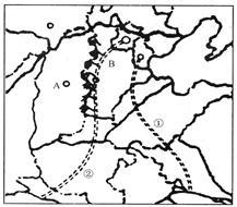 图8为我国两大淡水湖.读图回答问题.小题1 甲湖面积比上个世纪缩小近一半.其后果是A.造成上游水土流失B.导致湖泊土地沙漠化C.人口密度减少.城市数量减少D.对河流调节能力减弱小题