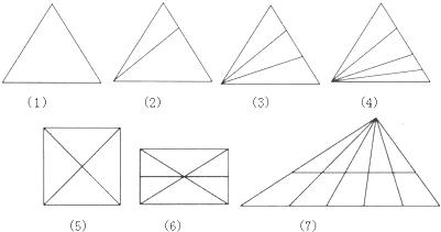 下面二形中各有多少个三角形?图片