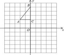 作图题:(6分)如图,方格纸中每个小正方形的边长都是1个单位长度,rt△abc的三个顶点a(﹣2,2),b(0,5),c(0,2).