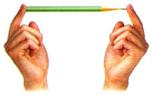 """铅笔静止时,两手指对铅笔的压力是平衡力(选填""""相互作用力""""或""""平衡力""""图片"""
