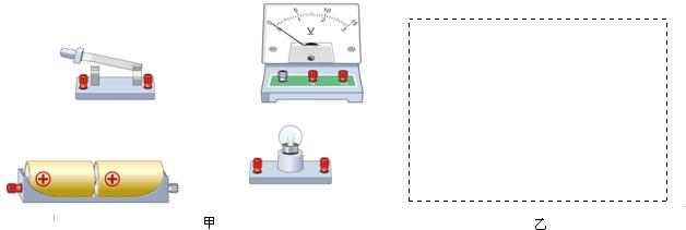 并且用电压表测量小灯泡两端的电压,并在图乙的方框内画出对应电路图.