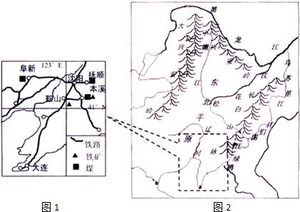水稻,棉花 (4)图1为我国四大工业基地之一,该工业基地是辽中南地区