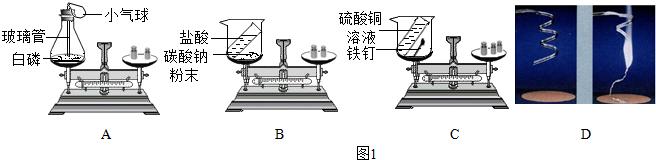 12.某化学课外小组同学用如图所示实验探究质量守恒定律