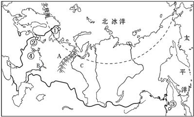地图是地理学习的第二语言.学会用地理语言记录和描述地理问题是地理学习的重要技能.请按要求完成下列问题. 1 在图中适当位置填出 大洋洲 和 印度洋 .并标出A点的经纬度