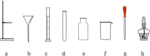 如图是初中化学实验的常用仪器,请按要求填空.图片