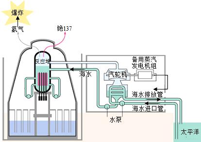 3.如图为日本福岛核电站泄漏事故图解.