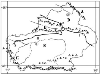 (3)图中a为乌鲁木齐城市.