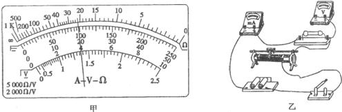 (3)如图乙所示,电路中部分导线已连接,请用笔画线代替导线将电路补充