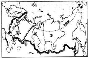 读俄罗斯城市.河流.地形分布略图.填图并回答问