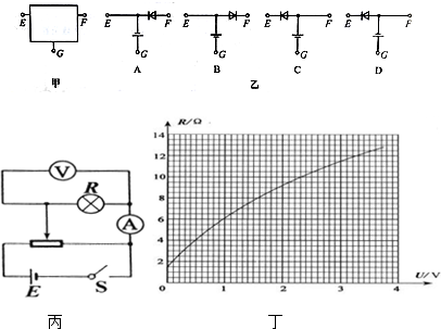 """②某同学用如图丙所示电路,测绘标有""""3.8v,0."""