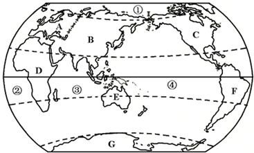 (5)七大洲中面积最小的洲大洋洲,四大洋中面积最大的洋太平洋.