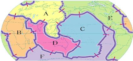 地球南北海陆分布图
