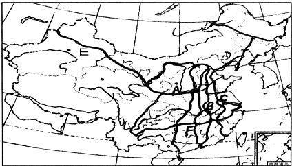 京沪线,陇海线和兰新线.