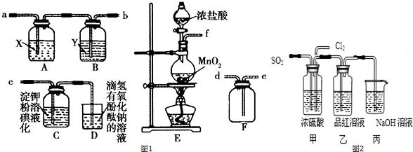 某研究性学习小组为了制取 收集纯净干燥的氯气并探究氯气的性质,他们设计了如图41512所示的实验装置 图41512 请回答下列问题 1 整套实验装置的连接顺序是f接