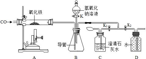 其它容器中各加入适量试剂(如图所示) (3)关闭分液漏斗开关和k 1,打开
