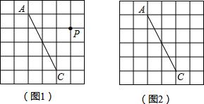 图1、图2是两张形状和大小完全相同的方格纸,方格纸中每个小正方形的边长均为1,线段ac的两个端点均在小正方形的顶点上.