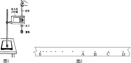 秒表 (2)实验中,已知打点计时器所用电源的频率为50hz,当地的重力加
