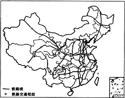 (3)图中④铁路线从青海省的格尔木到西藏的拉萨,是我国新建成的一条