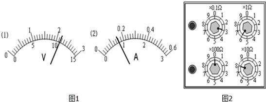 电流表接0~0.6a量程时为0.16a.读出图2所示电阻箱的阻值86.3Ω.