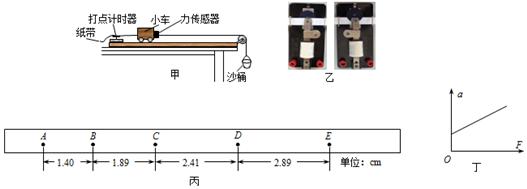 沙桶和沙的质量要远小于小车和传感器的质量 d.