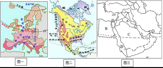 (4)图三区域中,多数国家信奉伊斯兰教,宗教圣城是麦加.