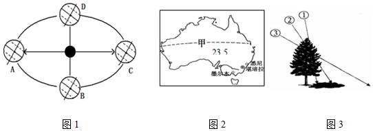 如图是竖版世界海陆分布图.读图回答下列问题.(1)从看