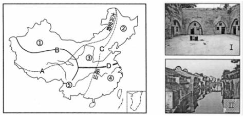 3.读印度略图和孟买气温降水资料图.回答下列