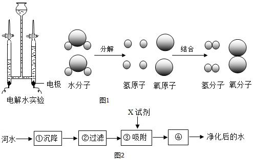 (3)自来水厂净化水的主要步骤如图2所示,有关说法错误的是b.     a.