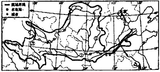 读黄河水系图.回答下列问题 l 图中①是汾河②是渭河,它们都位于黄河的中游. 2 泾渭分明 是我国的著名成语.用来形容事情的好坏.就像古时的泾水和渭水一样清浊