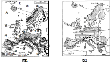 19.读欧洲问题地形图(图1)和欧洲攻略气候图(图2),回答下列自驾南北湖v问题西部一日游西部图片
