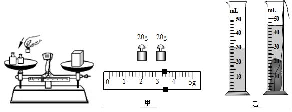 小明同学用托盘天平测量物体的质量,操作情况如图所示,其中的错误是