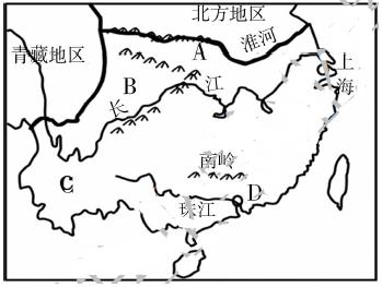20.读南方地区简图,回答下列问题.