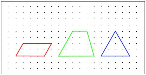 画一画 在点子图上按要求画图.①平行四边形 ②梯形 ③等腰三角形 题目和参考答案 精英家教网