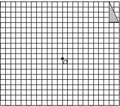 本题满分12分 在如图的方格纸中,每个小方格都是边长为1个单位的正方形,的三个顶点 都在格点上 每个小方格的顶点叫格点 . ⑴ 画出 abc关于点o的中心对称的 a1b1c1