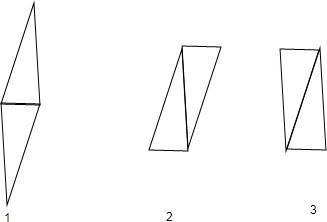 两块大小相同的三角板拼成含有平行线段的图形吗 试一试.多拼几个图