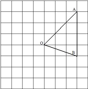 在方格纸 每个小方格都是边长为1个单位长度的正方形 中.我们把每个小正方形的顶点称为格点.已知o.a.b都是方格纸上的格点. 1 画线段oa和直线ob, 2 过o点画ab的垂线