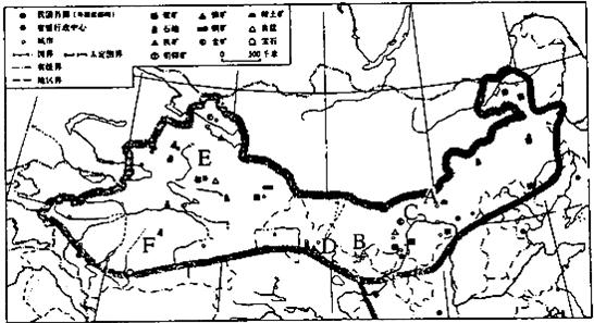 读图西北地区图,回答下列问题