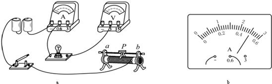 如图a所示是测量额定电压为2.5v的小灯泡额定功率的电路.