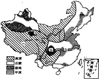 我国草地资源主要分布在 A.西北内陆地区 B.江南丘陵区 C.东部三大平原区 D.云贵高原区 精英家教网