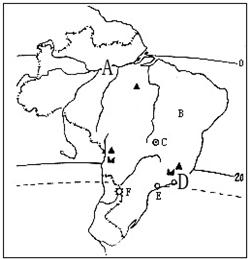读巴西的人口分布图_读 巴西人口分布图 .回答问题. 1 巴西人口分布的特点 .