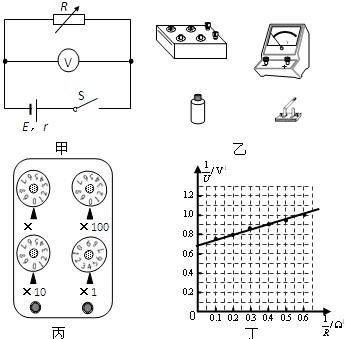 电阻箱,开关和若干导线来测一节干电池的电动势和内阻.