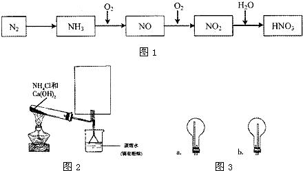 集氨气.试管中反应的化学方程式是-6.实验室用右图装置制取溴化亚铁