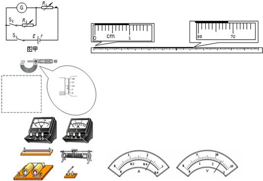 在测定金属丝电阻率的实验中,如图甲所示,用螺旋测微器测得金属丝的