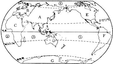 读图1完成下列各题. (1)A.B.C.D中人口稠密的地