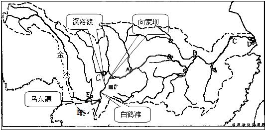 材料二长江水系图