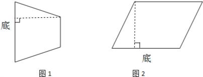 通常过上底的一个顶点作下底的垂线用三角板的直角可以画出梯形的一条图片